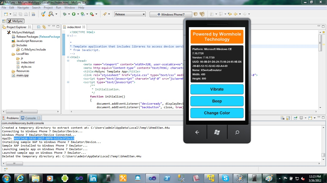 Write an Android application